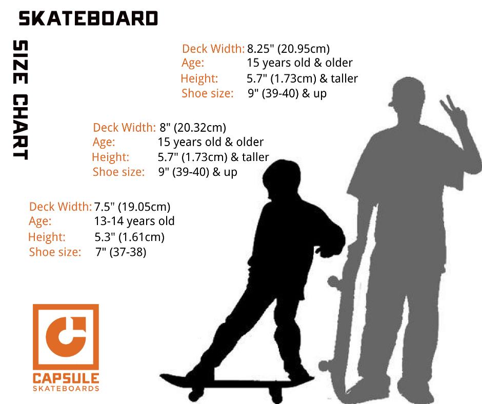 Skateboard Size Chart Capsule Skateboards