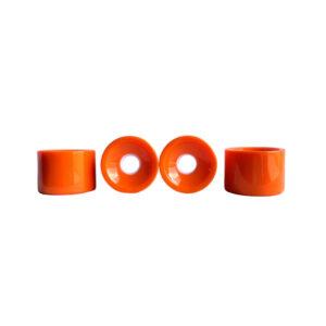 Orange longboard wheels 70mm