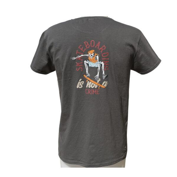 T-shirt Capsule Graphite Orange Logo back