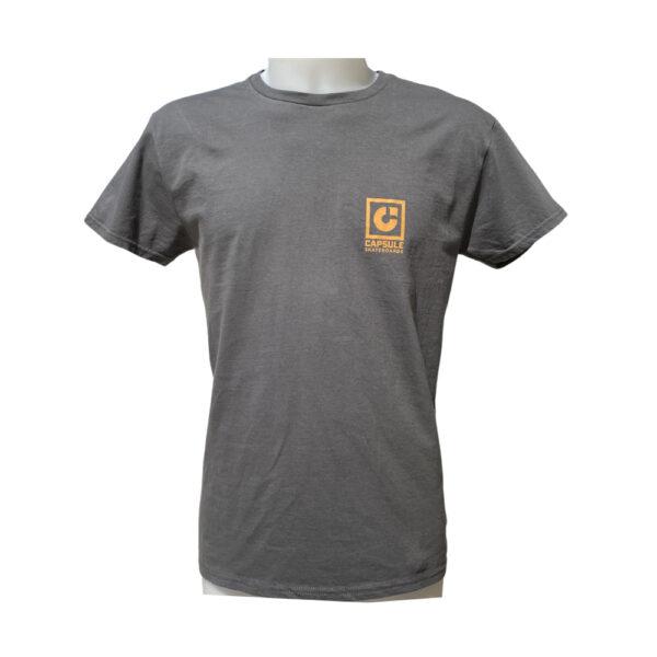 T-shirt Capsule Graphite Orange Logo front