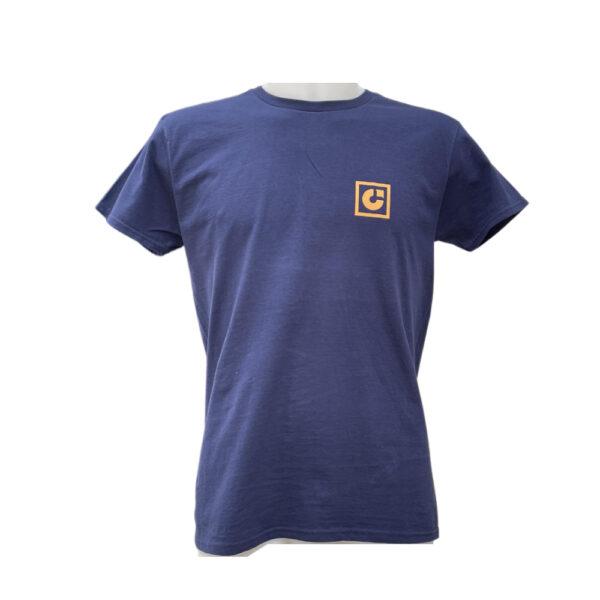 T-shirt Capsule Navy Orange Logo front