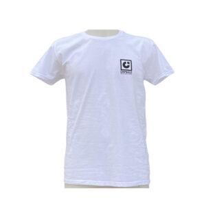 T-shirt Capsule White Black Logo front