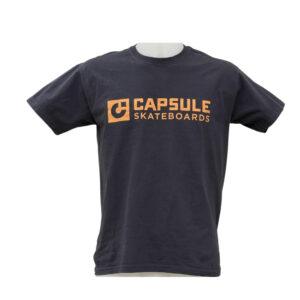 T-shirt Capsule Black Orange Logo front